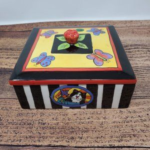 Catzilla by Candace Reiter Trinket Box